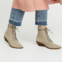 Womens Jeffery Campbell Elmcroft Grey/taupe Suede Snake Boots Free People Size 7 Photo