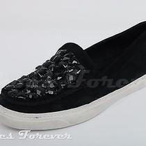Womens Jeffrey Campbell Black Leather Slip on Sneakers Sz. 10  Photo