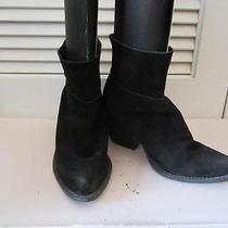 Womens Jeffrey Campbell Black Suede Pull on Booties - Size 8 Photo