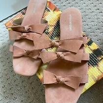 Womens Jeffrey Campbell Bow Flat Sandals Atone 2 10 Blush Anthropologie Photo