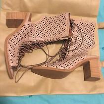 Womens Jeffrey Campbell Open Heel/open Toe Contessa Ct Nude Heels Size 8.5 Photo