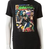 Womens Jrs Lg Big Bang Theory Bazinga Comic Book Cover Black Fitted Shirt Nwt Photo