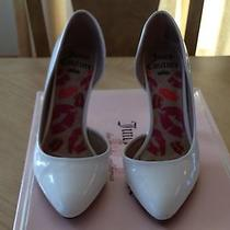 Womens Juicy Couture Khrystal White Slip on  Dress Shoes Size  5 1/2 Photo