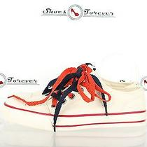 Womens Juicy Couture Stylish Off White Fabric Fashion Sneakers/keds sz.8.5m New Photo