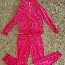 Womens Juicy Couture Velour Track Suit Size Xl Photo