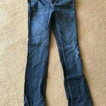 Womens/juniors Aeropostale Chelsea Bootcut Blue Jeans Size 1/2 Regular  Photo