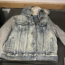 Womens/juniors Aeropostale Zip Up Hoodie/jacket Distressed Denim  Size M Photo
