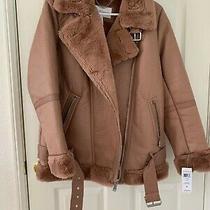 Womens Juniors Bcbgeneration Jacket Winter Fall Faux Fur Blush Gorgeous Size S Photo