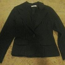 Womens Juniors Blush Jacket Career Clothes Long Sleeve Blazer Black Size 3/4 Photo