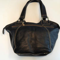 Womens/juniors Maxx New York Black Leather Handbag /hobo/shoulder Bag Photo