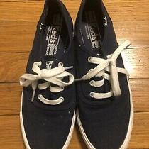 Womens Keds Navy Blue Canvas Sneakers 7.5 Photo