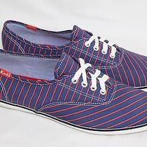 Womens Keds Size 8 Navy Red Stripe Casual Shoes Flats Photo