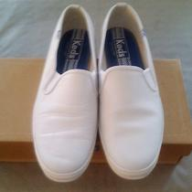Womens Keds White Leather Slip-on Sneakers Size 9.5 - Like New Photo