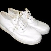 Womens Keds White Leather Sneakers Shoes Lace-Up  Size 8.5 Photo