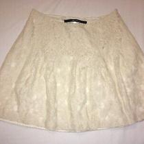 Womens Kensie Cream Lace Skirt Size 6 Pretty Photo