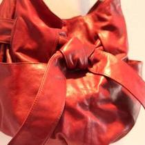 Womens Kooba Lipstick Red Leather Purse Satchel Hobo 'Elisha' Shoulder Bag-Super Photo