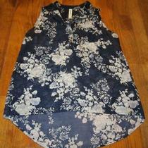 Womens Ladies Aeropostale Sheer Sleeveless Floral Blouse Top Shirt Size S/p Ec Photo