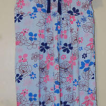 Womens Ladies Blush Blue  Pink Flowers Pajama Nightie Night Dress Xl Photo