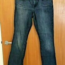Womens Ladies Gap Baby Boot Blue Demin Jeans Uk Size 10 Inside Leg 31 Inch Photo