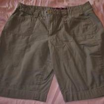 Womens Ladies Gloria Vanderbilt Lined Green Cotton Shorts Short Pantssize 16ec Photo