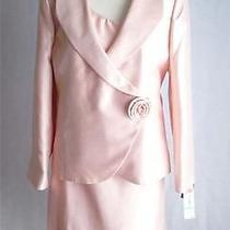 Womens Ladies Kasper Pink Quartz Blush 3pc Skirt Suit - Sz 16 Photo