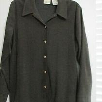 Womens Ladies Lightweight Jacket Shirt Brown Classic Elements Size L  Petite Photo