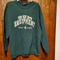Womens Ladies Misses Plus Size 1x Oversized Green Sweatshirt Bum Equipment Photo