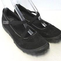 Womens Lands End Black Leather Mary Jane Ballet Flats Dress Shoes Sz 7 Photo