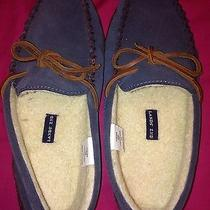 Womens Lands End Size 8 Bedroom Shoes Slippers Driving Shoes Blue/gray Euc Photo