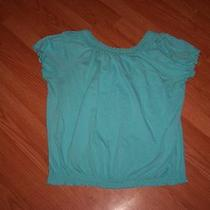 Womens Lane Bryant Blouse Top Size 18/20w  Blue W Stretch Very Pretty  Photo