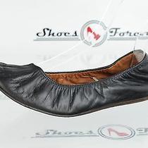 Womens Lanvin Black Leather Ballet Flats Shoes Sz. 7 M Great Photo