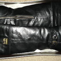 Womens Leather Coach Boots Photo