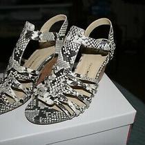 Womens Leather Shoe. New White Multi Size 8w Isaac Mizrahi Wedge Heel Photo