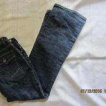 Womens Levi 512 Red Tab Perfectly Slimming Boot Cut Low Rise Blue Jeans Size 4 Photo