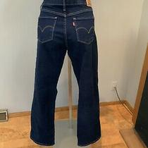 Womens Levis 315 Shaping Boot Cut Stretch Black Denim Jeans Size 31 (31x30) Photo