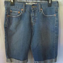 Womens Levis Shorts 515 Size 6 Cuffed Free Shipping Medium Wash Summer Wear Photo