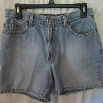Womens Levis Shorts Size 8 Mis Free Shipping Medium Wash Summer Wear Mid Thigh Photo