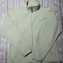 Womens Light Green Large Columbia Fleece Full Zip Up Jacket  Photo