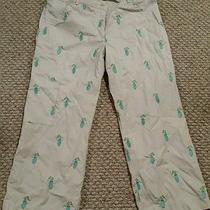 Womens Lilly Pulitzer Golf Bag Patterned Capris Pants Sz 8 Photo