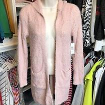 Womens Long Blush Pink Cardigan Size Xs 1  Photo