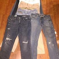 Womens Lot 9 Pair Jeans Sz 4 / 5  Gap  American Eagle  Free Shipping Photo