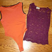 Womens Lot of 2 Victoria's Secret Purple Xs & Bcbg Orange Tank Tops Size S Photo
