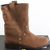 Womens Love Moschino Ja24072j0w Ji0 Mud Brown 39 Suede Pull on Midcalf 8.5 Boots Photo