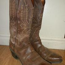 Womens Lucchese 1883 Brown Cowboy Boots 7 B Made in Usa Photo