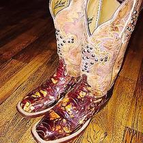 Womens Lucchese Ostrich Leg Boots Photo