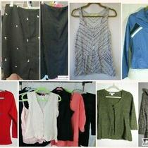 Womens M 8 10 Mixed 21pc Huge Lot Blazer Skirt Sweater Jacket Suit Express h&m Photo