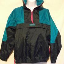 Womens M Vintage Columbia Radial Sleeve 1/2 Zip Pull Over Rain Jacket Light Vent Photo