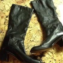 Womens Macys Nine West Tall Leather Boots 9 Photo