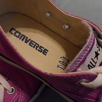 Womens Magenta Pink Purple Converse  All Star Low Tops  Size 7 or Size 5 for Men Photo