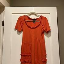 Womens Marc by Marc Jacobs Ruffle Top Size Xs Red Coral Color Very Soft Photo